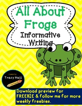 All About Frogs Informative Writing- Common Core-Freebie i
