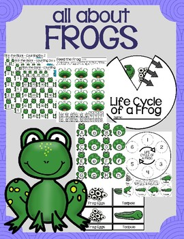 All About Frogs (Life Cycle, Games, Math, Letters)