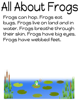 All About Frogs - Non Fiction Unit