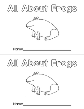 All About Frogs Emergent Reader