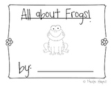 All About Frogs Writing Packet