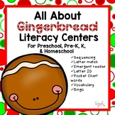 All About Gingerbread Literacy Centers For Preschool, Pre-K, K,  & Homeschool!