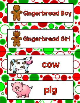 All About Gingerbread Literacy Centers For Preschool, Pre-K, K,  & Homeschool!