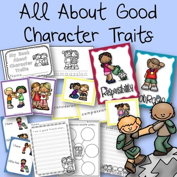 All About Good Character Traits Book, Posters, and Activities