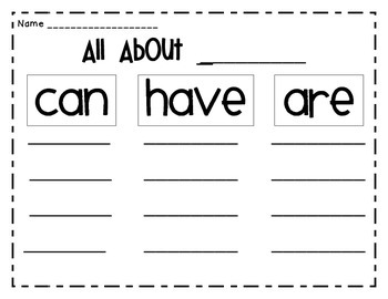 All About Graphic Organizer