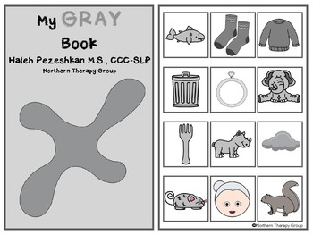 All About Gray Interactive Book and Activities