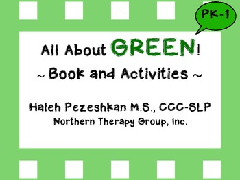 All About Green Interactive Book and Activity