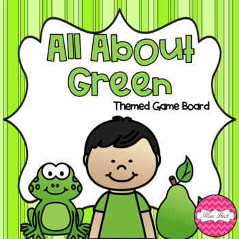 All About Green Themed Game Board