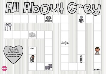 All About Grey Themed Game Board