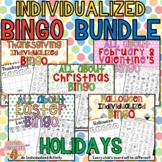 All About HOLIDAYS: Individualized BINGO GAMES Growing BUNDLE