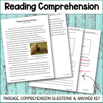 All About HORSES - 4th Grade Information Text Set *HIGH INTEREST*