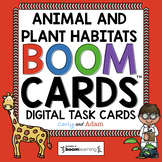 All About Habitats Boom Cards™ and Reading Passage