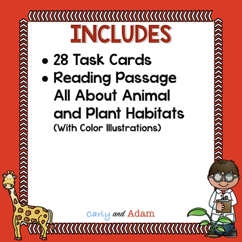 All About Habitats Task Cards