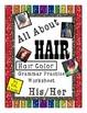 ESL Hair Color Grammar Practice Possessive Pronoun His Her Worksheets