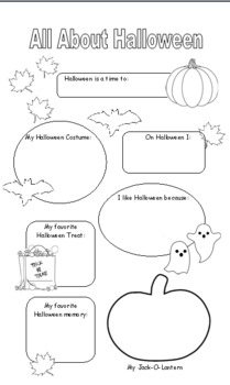 All About Halloween: A Fill-in Poster