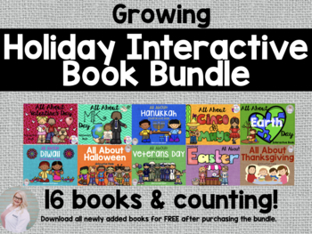 All About Holidays: Interactive Book Growing Bundle