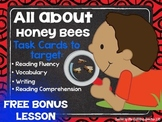 All About Honeybees Listening & Reading Comprehension Task Cards-  FREE LESSON