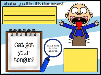 All About Idioms Promethean ActivInspire Flipchart Lesson