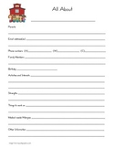 All About Me - Information Sheet