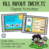 All About Insects Digital Activities | Google Slides & SeeSaw