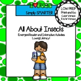 All About Insects Emergent Reader Book AND Interactive Activities