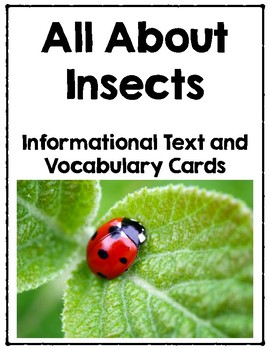 All About Insects - Informational Text and Vocabulary