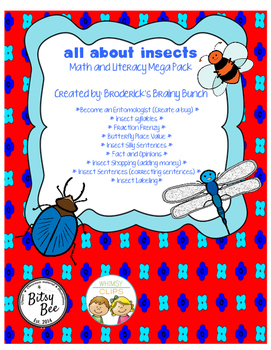 All About Insects Math and Literacy Mega Pack