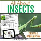 Insects Nonfiction Unit with Google Classroom Distance Learning