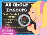 All About Insects Task Cards To Target Oral & Reading Comp