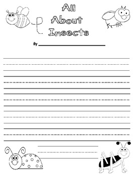 All About Insects Writing Prompt - Common Core Aligned