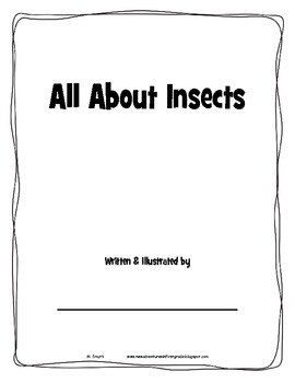 All About Insects booklet