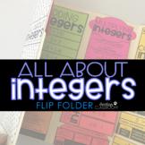 All About Integers | Flip Folder