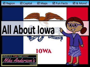 All About Iowa | US States | Activities & Worksheets