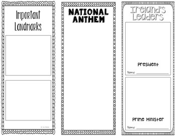 Ireland - Research Project - Interactive Notebook - Government - Mini Book