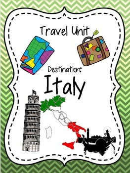 All About Italy! Reading, writing, and more!