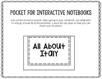 Italy - Research Project - Interactive Notebook - Government - Mini Book