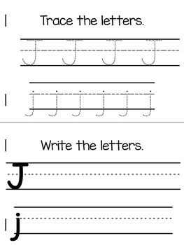 All About J | Alphabet Recognition Book
