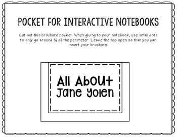 All About Jane Yolen - Biography Research Project - Interactive Notebook
