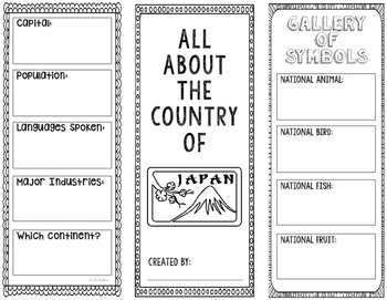 Japan - Research Project - Interactive Notebook - Government - Mini Book