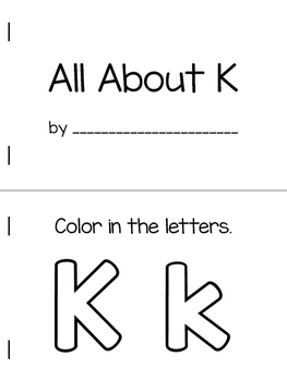 All About K | Alphabet Recognition Book