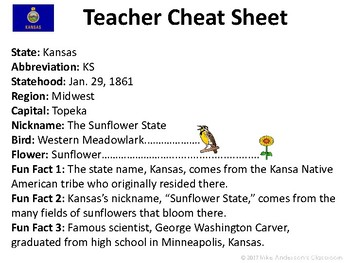 All About Kansas | US States | Activities & Worksheets