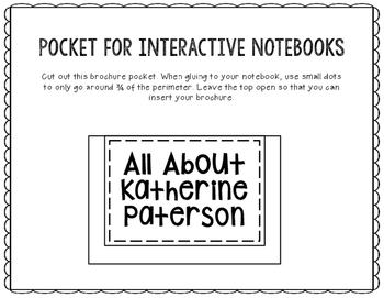 All About Katherine Paterson - Biography Research Project - Interactive Notebook