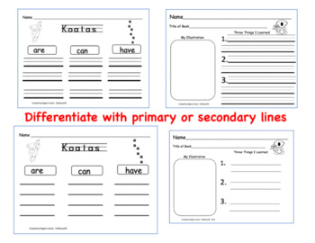 All About Koalas, Writing Activities, Graphic Organizers, Diagram