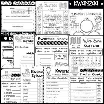 Kwanzaa a Non-fiction Unit