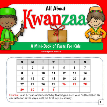 Kwanzaa Mini Book for Kids
