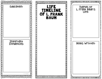 All About L. Frank Baum - Biography Research Project - Interactive Notebook