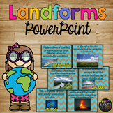 LANDFORMS PowerPoint, Real pictures, Quiz, Interactive