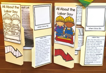 All About Labor Day Lap Book