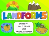 All About Landforms - Complete SMART Notebook Smartboard Lesson