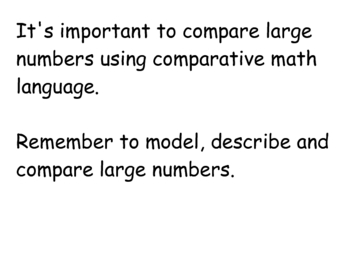 All About Larger Numbers Class Book